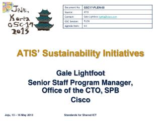 ATIS' Sustainability  Initiatives