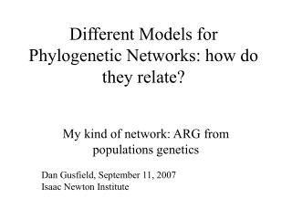 Different Models for Phylogenetic Networks: how do they relate?
