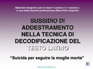 """""""Suicida per seguire la moglie morta"""""""