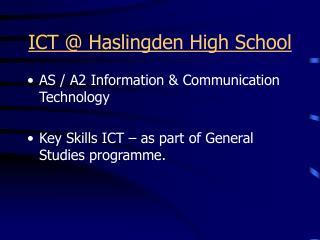 ICT @ Haslingden High School