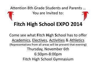 HS Expo 2014 invite