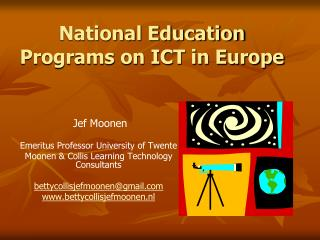 National Education Programs on ICT in Europe