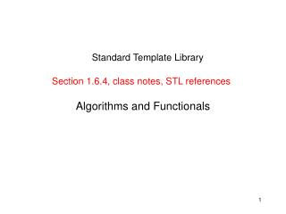 Algorithms and Functionals