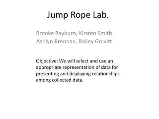 Jump Rope Lab.