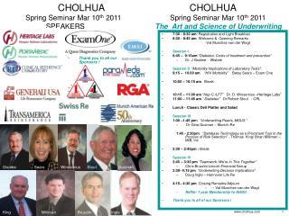 CHOLHUA                                CHOLHUA  Spring Seminar Mar 10th 2011   Spring Seminar Mar 10th 2011