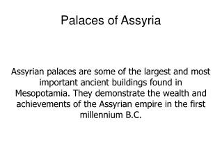 Palaces of Assyria
