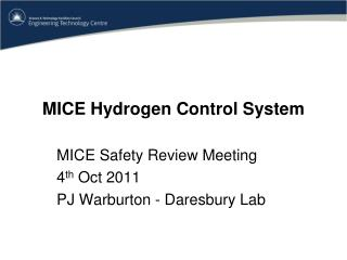 MICE Hydrogen Control System