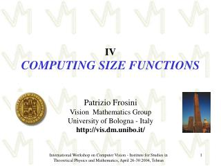 IV COMPUTING SIZE FUNCTIONS