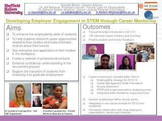 Developing Employer Engagement in STEM through Career Mentoring