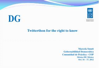 Twitterthon for the right to know