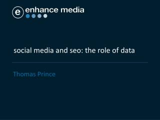 social media and seo: the role of data