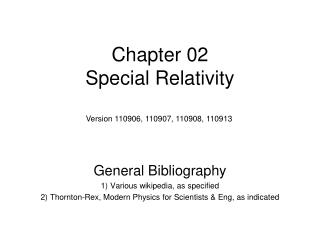 Chapter 02 Special Relativity