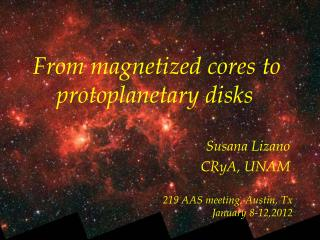 From magnetized cores to     protoplanetary disks