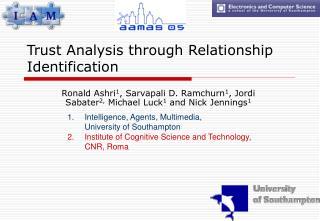 Trust Analysis through Relationship Identification