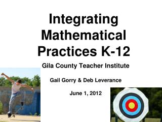 Integrating Mathematical Practices K-12