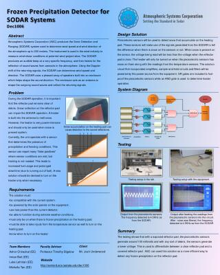 Frozen Precipitation Detector for SODAR Systems Dec1006