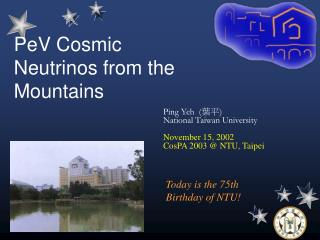 PeV Cosmic Neutrinos from the Mountains