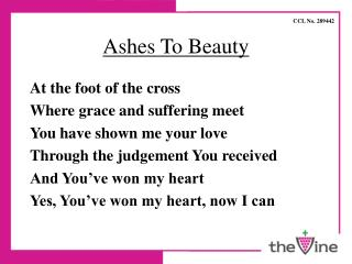 Ashes To Beauty