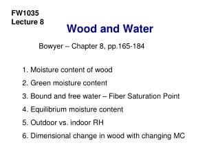 Wood and Water