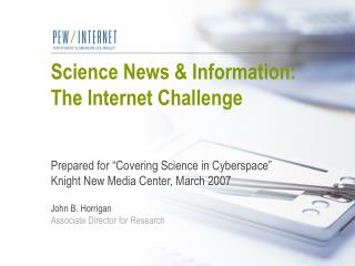 Science News  Information: The Internet Challenge