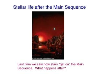 Stellar life after the Main Sequence