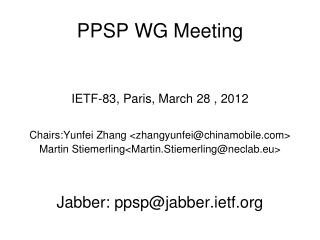 PPSP WG Meeting
