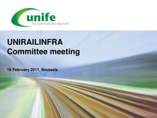 UNIRAILINFRA Committee meeting
