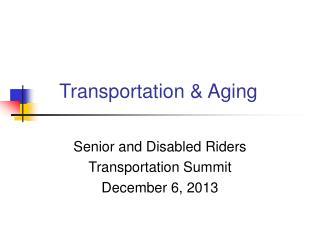 Transportation & Aging