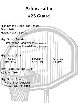 Ashley Faltin #23 Guard