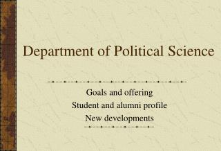 Department of Political Science
