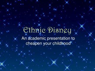 Ethnic Disney