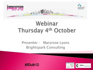 Webinar  Thursday 4 th  October