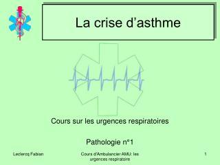 La crise d'asthme