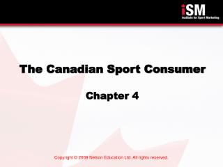 The Canadian Sport Consumer