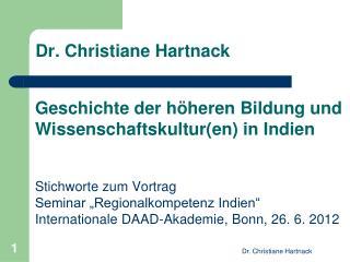 Dr. Christiane Hartnack