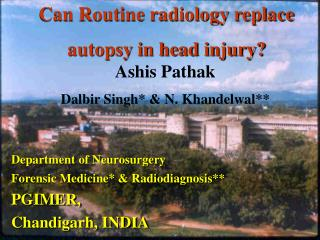 Can Routine radiology replace  autopsy in head injury?