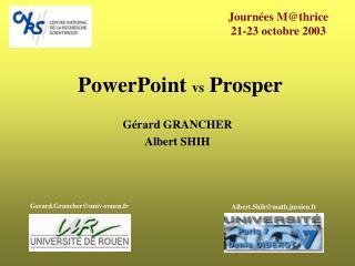 PowerPoint vs Prosper