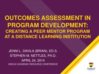 Jenni L. Davila (Brian),  Ed.S . Stephen m. Nettles, Ph.D. April 24, 2014