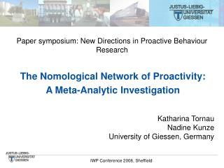 The Nomological Network of Proactivity: A Meta-Analytic Investigation