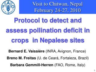 Visit to Chitwan, Nepal February 24-27, 2010
