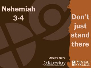 Nehemiah 3-4