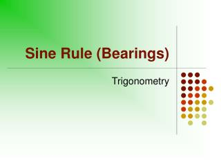 Sine Rule (Bearings)