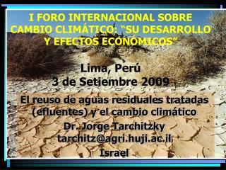 El reuso de aguas residuales tratadas (efluentes) y el cambio climático