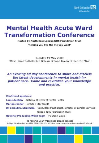 Mental Health Acute Ward               Transformation Conference