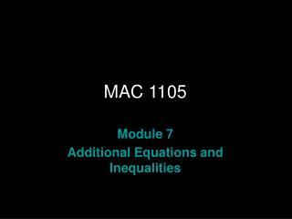 MAC 1105