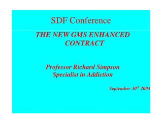 SDF Conference