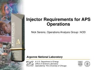 Injector Requirements for APS Operations