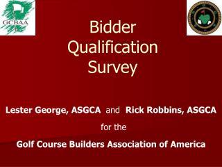 Bidder  Qualification  Survey