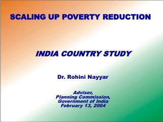 SCALlNG UP POVERTY REDUCTION