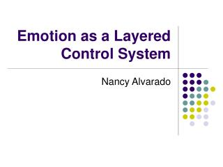 Emotion as a Layered Control System
